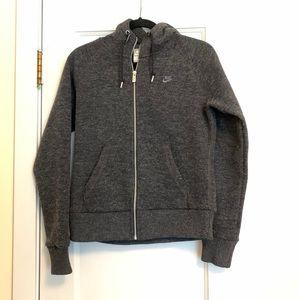 Nike Wool Blend Windrunner Hoodie Jacket Size M